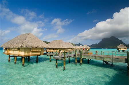 french polynesia - Pearl Beach Resort, Bora-Bora, Leeward group, Society Islands, French Polynesia, Pacific Islands, Pacific Stock Photo - Rights-Managed, Code: 841-02717313