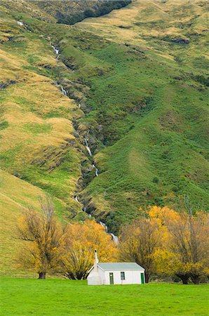 Hut, Matukituki Valley, Wanaka, Central Otago, South Island, New Zealand, Pacific Stock Photo - Rights-Managed, Code: 841-02719177