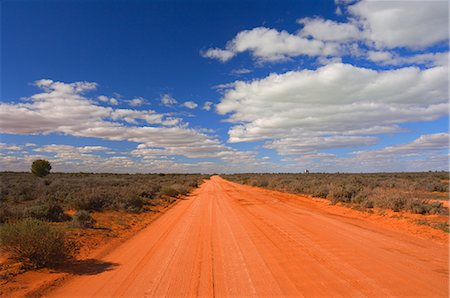 road landscape - Outback road, Menindee, New South Wales, Australia, Pacific Stock Photo - Rights-Managed, Code: 841-02719269