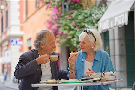 Senior tourists having breakfast in a local cafe, Rome, Lazio, Italy, Europe Stock Photo - Rights-Managed, Code: 841-02722051