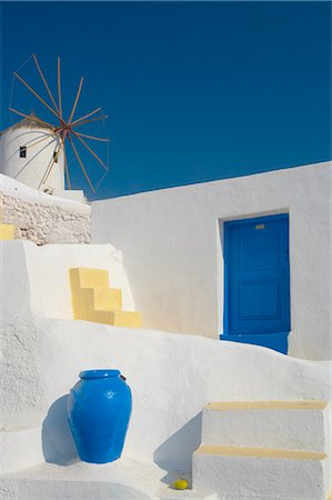 Windmill in Oia, Santorini, Cyclades, Greek Islands, Greece, Europe Stock Photo - Rights-Managed, Code: 841-02722551