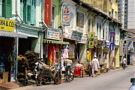 Street scene of shops and signs in Little India on Dunlop Street in the Indian quarter around Serangoon Road in Singapore, Southeast Asia, Asia Stock Photo - Rights-Managed, Code: 841-02722772
