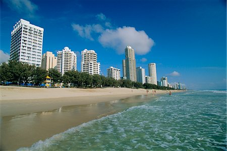 queensland - Surfers Paradise beach, Gold Coast, Queensland, Australia Stock Photo - Rights-Managed, Code: 841-02722990