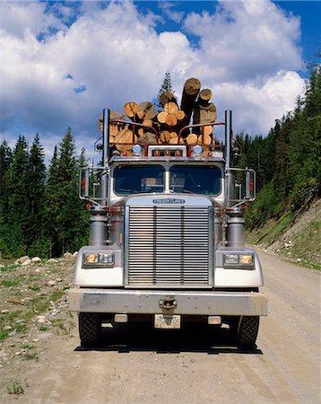Logging truck, British Columbia, Canada, North America Stock Photo - Rights-Managed, Code: 841-02824656