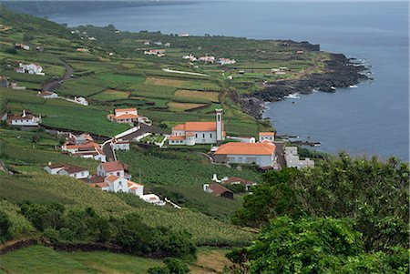 Arrife Miradouro, view to Santa Barbara, Pico, Azores, Portugal, Atlantic, Europe Stock Photo - Rights-Managed, Code: 841-02831264