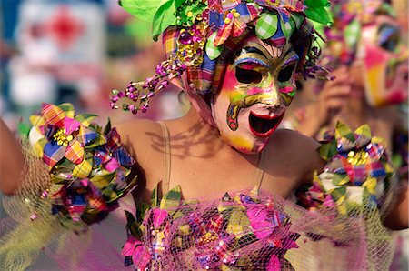 pictures philippine festivals philippines - Portrait of a masked dancer at Mardi Gras carnival, in Iloilo City on Panay Island, Philippines, Southeast Asia, Asia Stock Photo - Rights-Managed, Code: 841-02899063