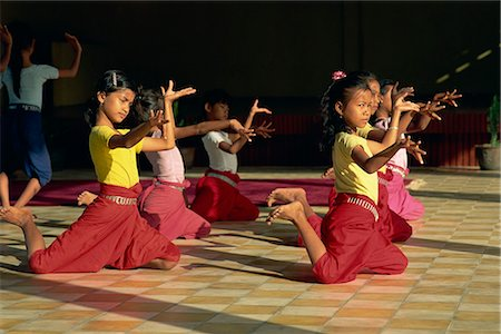 Girls training at Dance School, Phnom Penh, Cambodia, Indochina, Southeast Asia, Asia Stock Photo - Rights-Managed, Code: 841-02900027