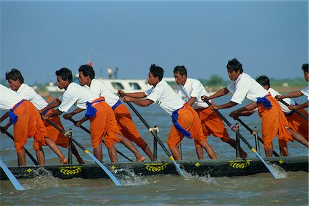Racers at the Water Festival, Phnom Penh, Cambodia, Indochina, Southeast Asia, Asia Stock Photo - Rights-Managed, Code: 841-02900031