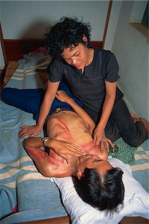 Traditional massage, Cambodia, Indochina, Southeast Asia, Asia Stock Photo - Rights-Managed, Code: 841-02900055