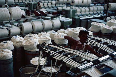 Modernised cotton mill in Ahmedabad, the Manchester of the East, Gujarat, India, Asia Stock Photo - Rights-Managed, Code: 841-02900388