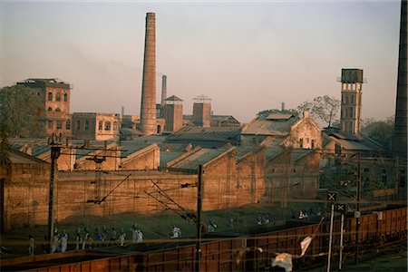 Cotton mills in Ahmedabad, the Manchester of the East, Gujarat, India, Asia Stock Photo - Rights-Managed, Code: 841-02900382
