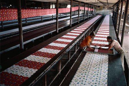 Silk screen printing, Ahmedabad, Gujarat, India, Asia Stock Photo - Rights-Managed, Code: 841-02900394