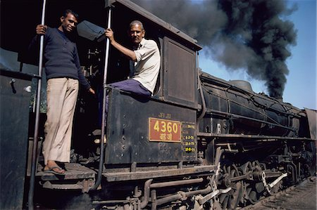 steam engine - Steam locomotive, India, Asia Stock Photo - Rights-Managed, Code: 841-02900425