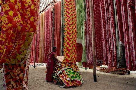 Screen print textiles, Ahmedabad, Gujarat, India, Asia Stock Photo - Rights-Managed, Code: 841-02900426