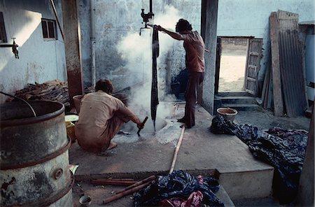 dyed - Batik dyeing, Mandui, Kutch district, Gujarat state, India, Asia Stock Photo - Rights-Managed, Code: 841-02900420