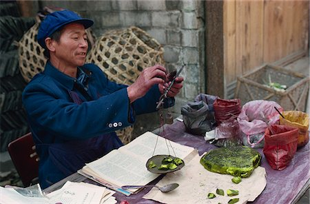dyed - Man selling chemical dyes for domestic textile industry, Kaili, Guizhou, China, Asia Stock Photo - Rights-Managed, Code: 841-02901205