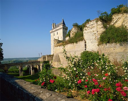 Chateau de Chinon, Indre-et-Loire, Loire Valley, France, Europe Stock Photo - Rights-Managed, Code: 841-02902711