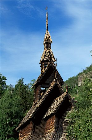 stave - The best preserved 12th century stave church in Norway, Borgund, Western Fjords, Norway, Scandinavia, Europe Stock Photo - Rights-Managed, Code: 841-02903619