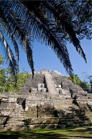 High Temple (Structure N10-43), the highest temple in the Mayan site, Lamanai, Belize, Central America Stock Photo - Rights-Managed, Code: 841-02917471