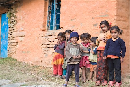 Village children, Sikles trek, Pokhara, Nepal, Asia Stock Photo - Rights-Managed, Code: 841-02917548