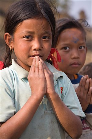 Village children, Sikles trek, Pokhara, Nepal, Asia Stock Photo - Rights-Managed, Code: 841-02917541