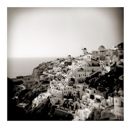 Polaroid of view of the village of Oia, Santorini, Cyclades, Greek Islands, Greece, Europe Stock Photo - Rights-Managed, Code: 841-02918109