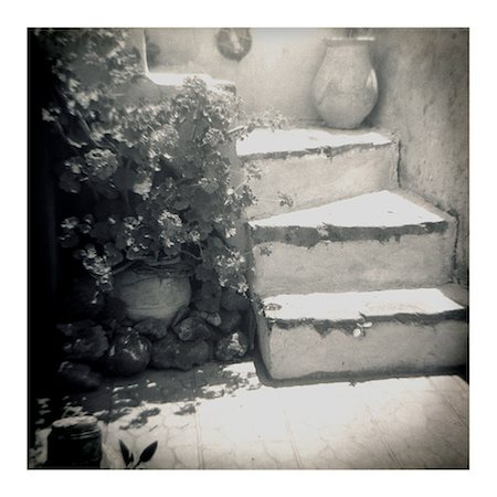 Polaroid of whitewashed stone steps, Oia, Santorini, Cyclades, Greek Islands, Greece, Europe Stock Photo - Rights-Managed, Code: 841-02918110