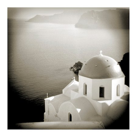 Polaroid of domed church, Oia, Santorini, Cyclades, Greek Islands, Greece, Europe Stock Photo - Rights-Managed, Code: 841-02918111