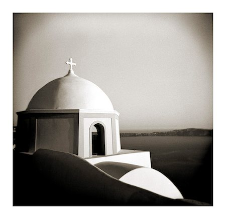 Polaroid of domed church, Fira, Santorini, Cyclades, Greek Islands, Greece, Europe Stock Photo - Rights-Managed, Code: 841-02918112