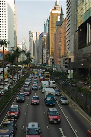 Busy traffic on Gloucester Road, Wanchai, Hong Kong, China, Asia Stock Photo - Rights-Managed, Code: 841-02924932