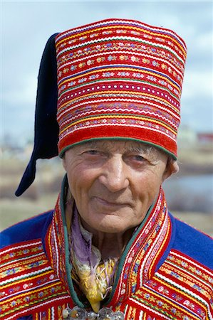 Sami man (Lapplander) in Kautokeino costume, Finnmark, Arctic Norway, Norway, Scandinavia, Europe Stock Photo - Rights-Managed, Code: 841-02945948
