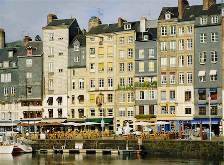 Around Vieux Bassin (the old port), Honfleur, Basse Normandie (Normandy), France, Europe Stock Photo - Rights-Managed, Code: 841-02946351