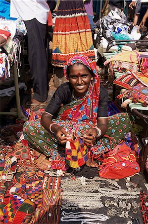 Woman in market, Mapusa, Goa, India, Asia Stock Photo - Rights-Managed, Code: 841-02946573