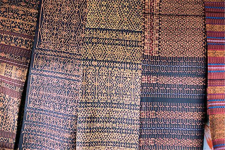 flores - Traditional ikat weavings, Bena Village, Flores, Indonesia, Southeast Asia, Asia Stock Photo - Rights-Managed, Code: 841-02946978