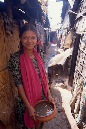 dhaka - Teenage girl in slum, Dhaka, Bangladesh, Asia Stock Photo - Rights-Managed, Code: 841-02947131
