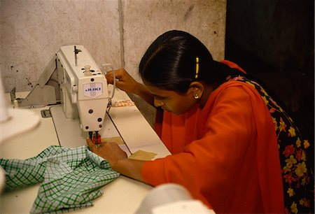 dhaka - Woman working in garment factory, Dhaka, Bangladesh, Asia Stock Photo - Rights-Managed, Code: 841-02947141