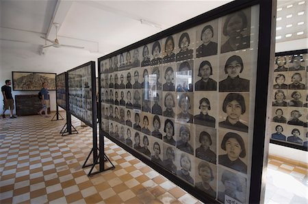The Genocide Museum in a former school that was used by Pol Pot for torture, imprisonment and execution, Phnom Penh, Cambodia, Indochina, Southeast Asia, Asia Stock Photo - Rights-Managed, Code: 841-02947373