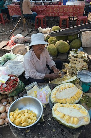Market in Kompong Thom, Cambodia, Indochina, Southeast Asia, Asia Stock Photo - Rights-Managed, Code: 841-02947407