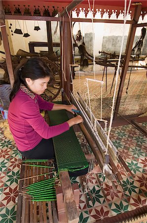 Woman Weaving, Phnom Penh, Cambodia, Indochina, Southeast Asia, Asia Stock Photo - Rights-Managed, Code: 841-02947439
