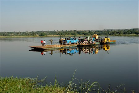 Paraa Ferry, Murchison Falls National Park, Uganda, East Africa, Africa Stock Photo - Rights-Managed, Code: 841-02943646