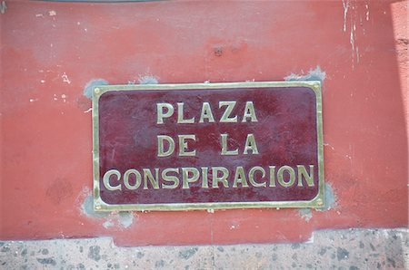 Street sign, San Miguel de Allende (San Miguel), Guanajuato State, Mexico, North America Stock Photo - Rights-Managed, Code: 841-02990894