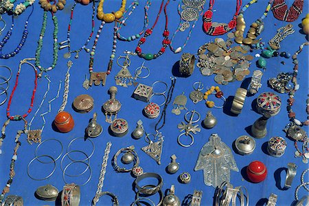 Jewellery laid out for sale, Boumalne du Dades market, Morocco, North Africa, Africa Stock Photo - Rights-Managed, Code: 841-02991439