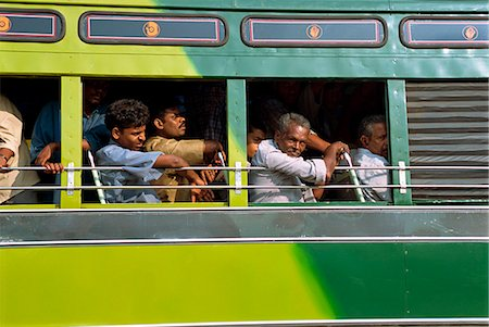 Passengers on a bus in Tamil Nadu state, India, Asia Stock Photo - Rights-Managed, Code: 841-02991566