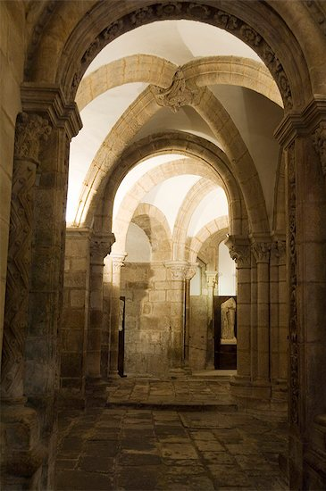 The crypt of Santiago Cathedral, UNESCO World Heritage Site, Santiago de Compostela, Galicia, Spain, Europe Stock Photo - Premium Rights-Managed, Artist: robertharding, Image code: 841-02993190