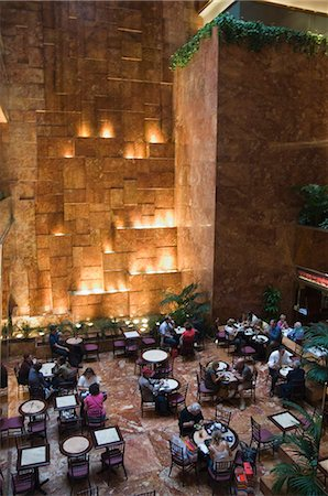 restaurant new york manhattan - Inside restaurant in Trump Towers, Manhattan, New York, New York State, United States of America, North America Stock Photo - Rights-Managed, Code: 841-03028162