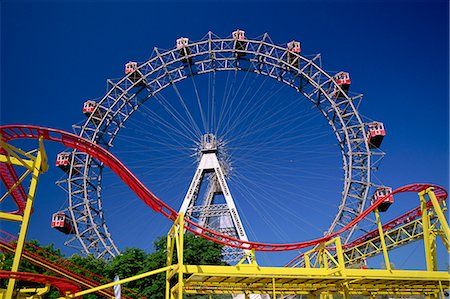 dpruter - Big wheel with roller coaster, Prater, Vienna, Austria, Europe Stock Photo - Rights-Managed, Code: 841-03029612