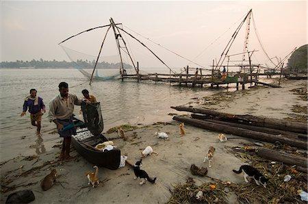 Chinese Fishing Nets,Cochin,Kerala,India Stock Photo - Rights-Managed, Code: 841-03035333