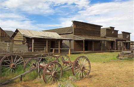 saloon - Old western wagons, restored storefronts, homes and saloons from the pioneering days of the Wild West at Cody, Montana, United States of America, North America Stock Photo - Rights-Managed, Code: 841-03032354