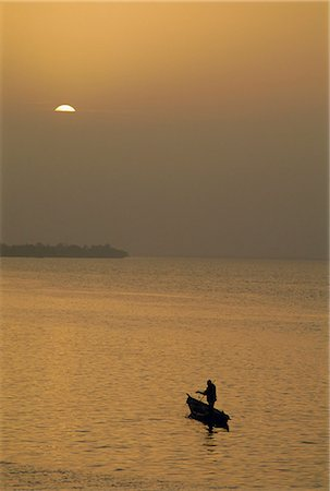 Small boat on the River Niger, Segou, Mali, Africa Stock Photo - Rights-Managed, Code: 841-03033299