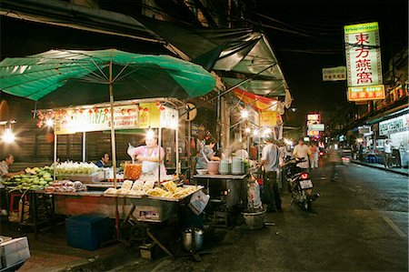 food stalls - Chinatown, Bangkok, Thailand, Southeast Asia, Asia Stock Photo - Rights-Managed, Code: 841-03065407
